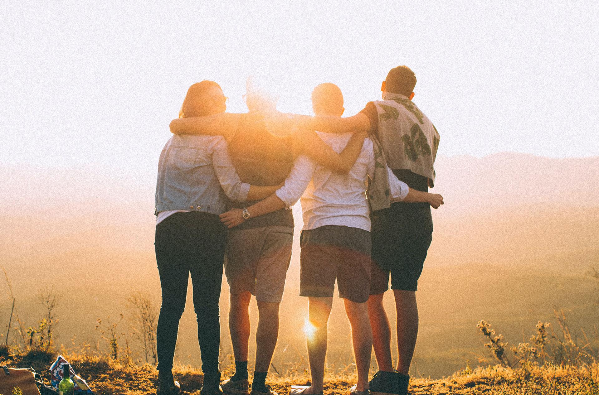 friends at sunrise